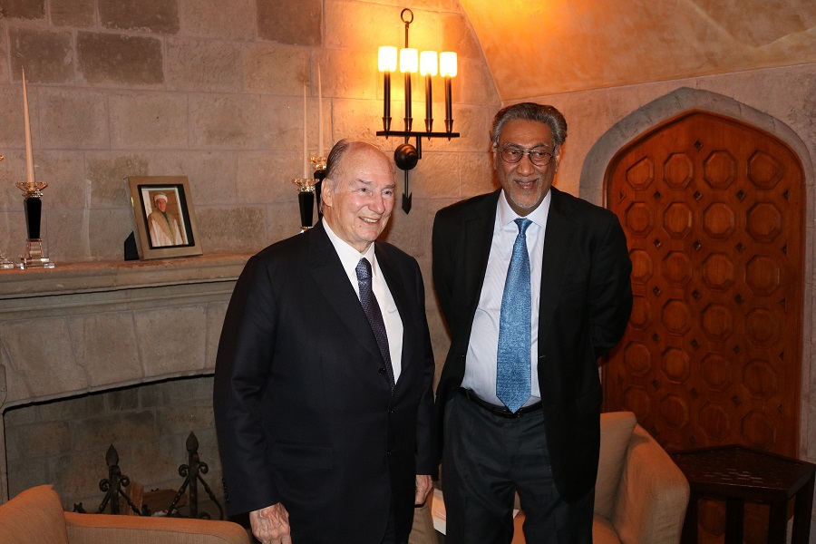 His Highnesss the Aga Khan pictured in Nairobi with New African Editor-in-chief, Anver Versi.