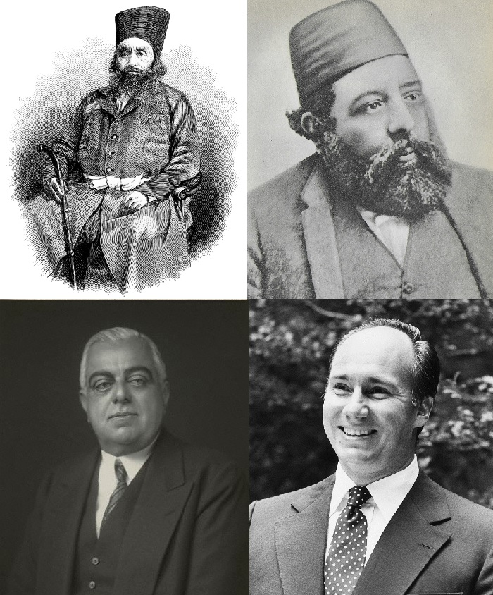The four Aga Khans - Direct Descendants of the Prophet Muhamad