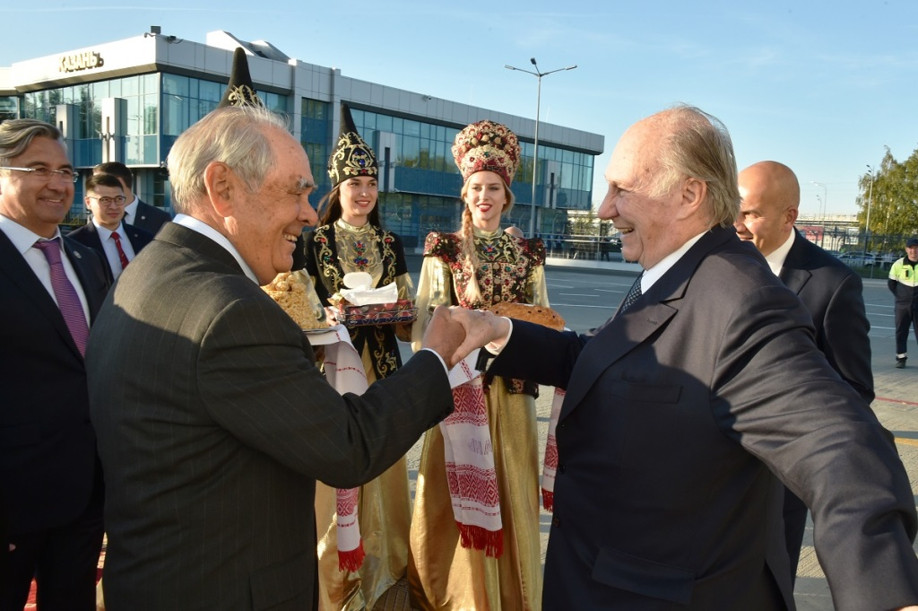 Aga Khan arrived in Kazan September 11,