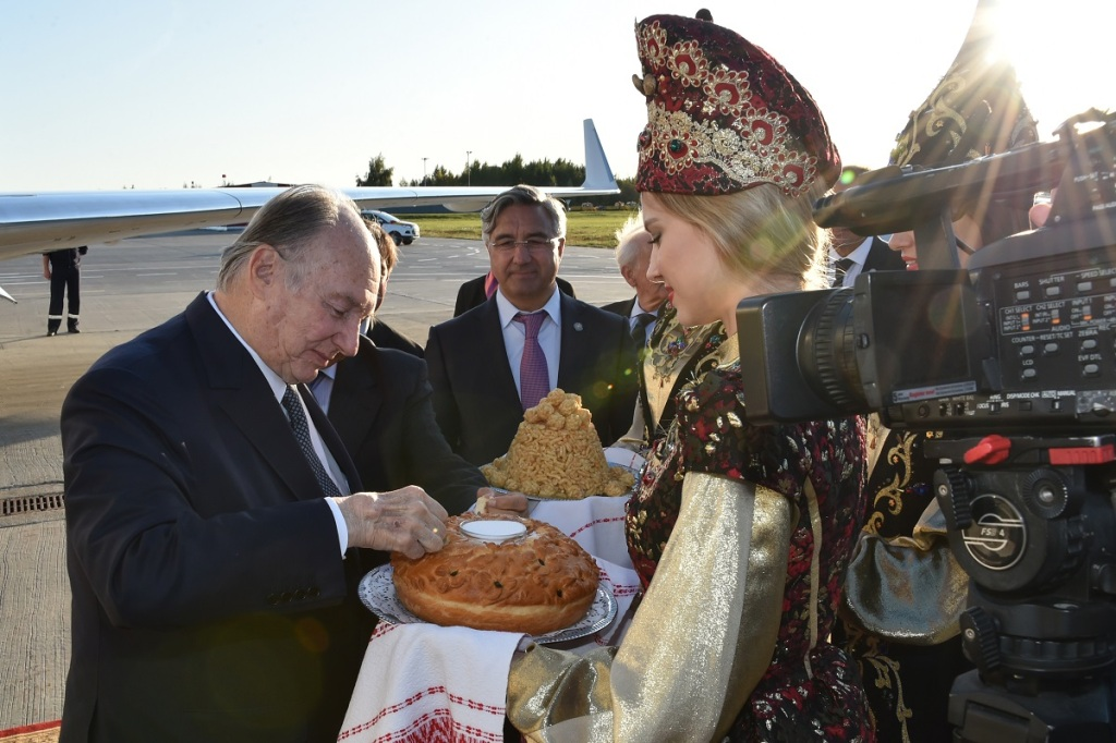 Aga Khan arrives in Kazan