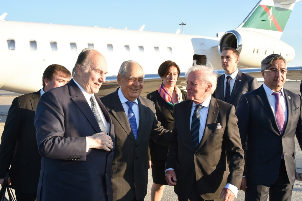 Aga Khan arrives in Kzan