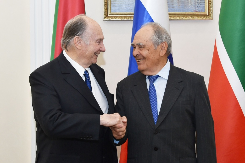 Aga Khan Meets Mintimer Shaimiev