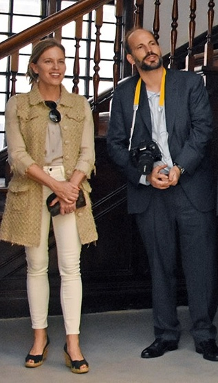 Prrince Hussain Aga Khan and his fiancee Ms. Fareen Hoag in Nairobi
