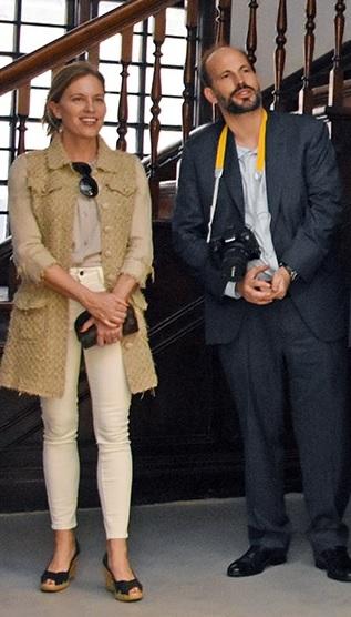Prrince Hussain Aga Khan and his fiancee Ms. Fareen Hoag in Nairobi