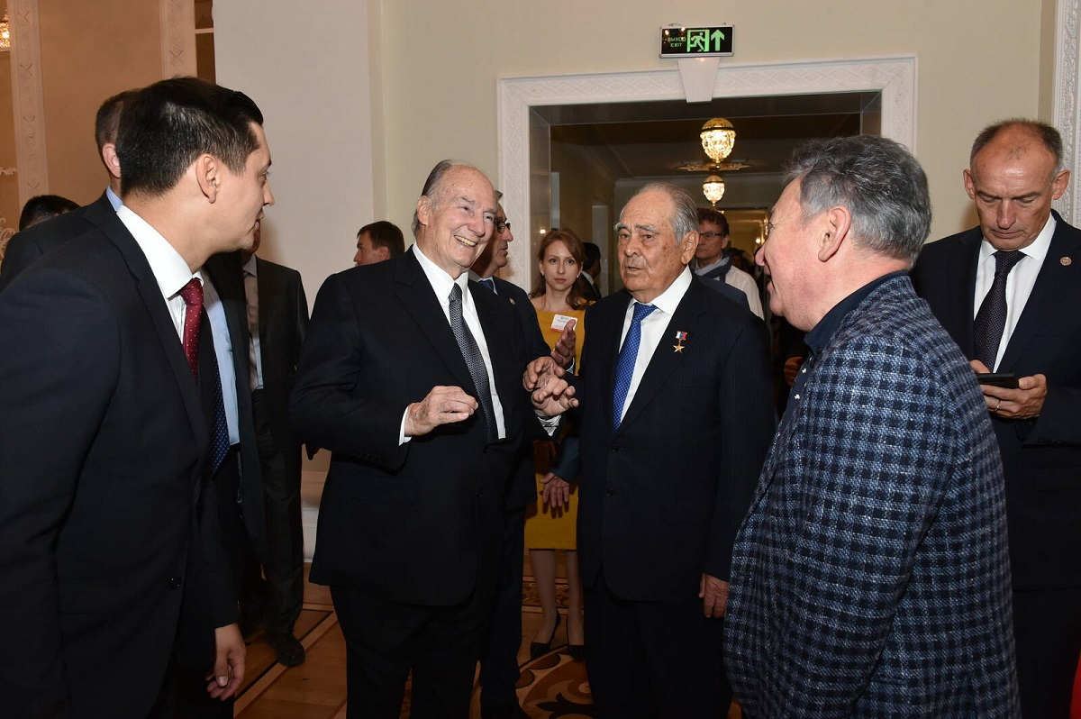 His Highness the Aga Khan and  Mintimer Shaimiev at the 2019 Aga Khan Awrd Cerremony in Kazan