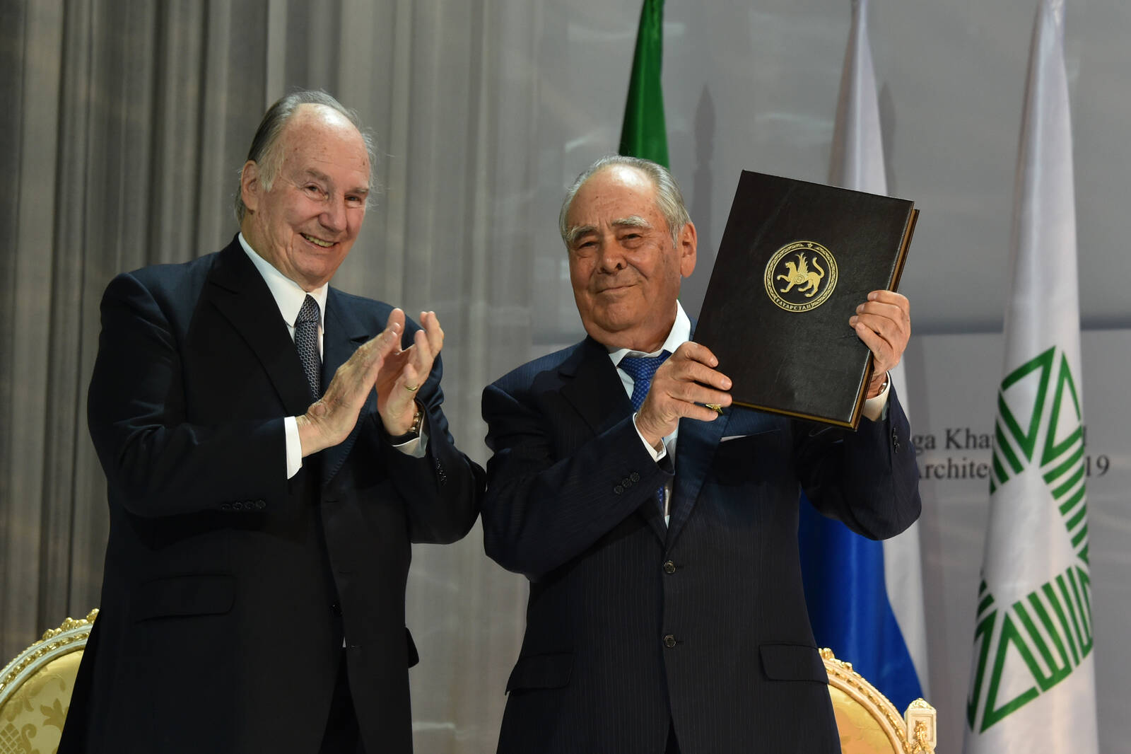 His Highness the Aga Khan and Mintimer Shaimiev,