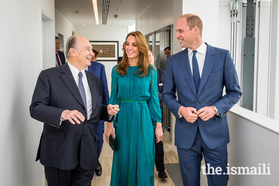 Official Royal Family video and photos: His Highness the Aga Khan welcomes Duke and Duchess of Cambridge to Aga Khan Centre ahead of their tour of Pakistan