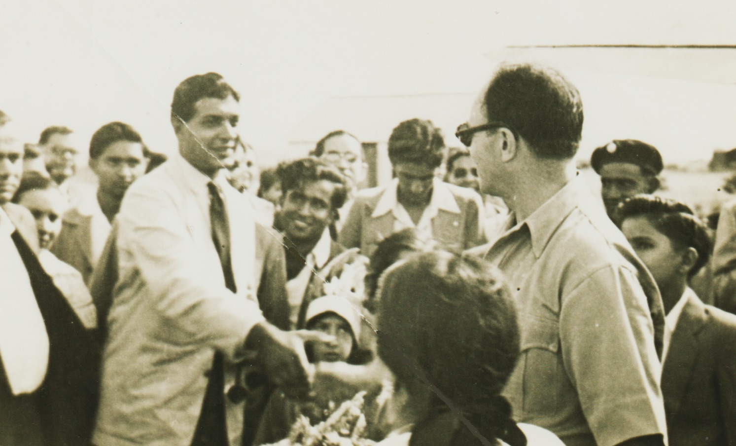 Prince Aly Khan and Rita Hayworth visit Arusha, Tanganyika, now Tanzania, in 1951
