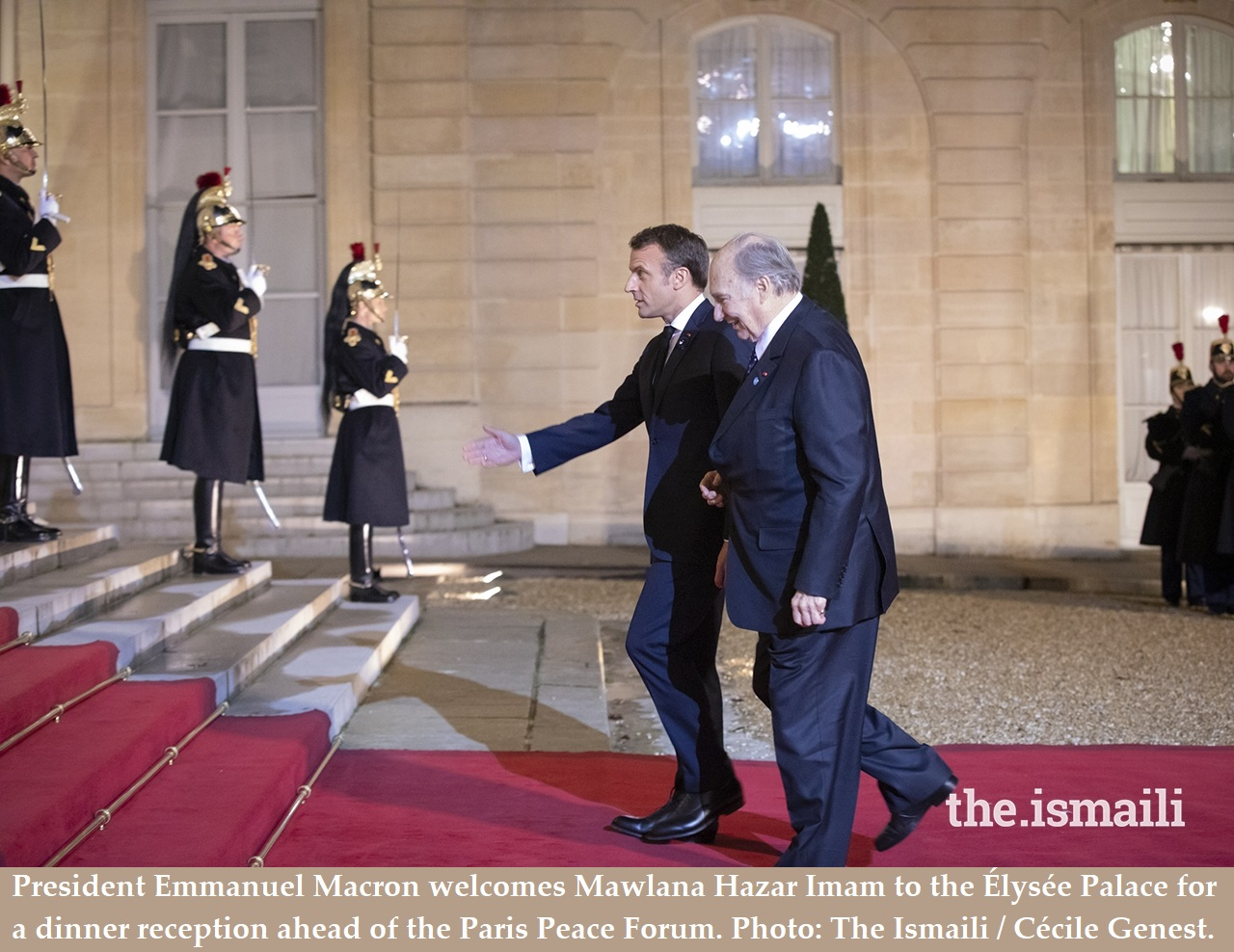His Highness the Aga Khan at  the 2019 Paris Peace Forum