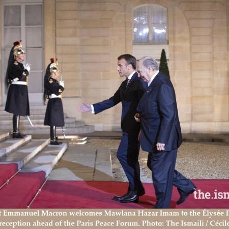 Aga Khan and Macron at Elysee Palace Featured Photo