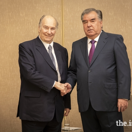Mawlana Hazar Imam, His Highness the Aga Khan with President Rahmon of Tajikistan