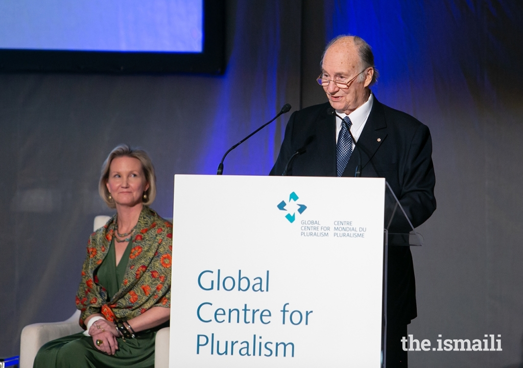 Aga Khan at 2019 Global Pluralism Award ceremony held on November 20, 2019 at the Delegation of the Ismaili Imamat in Ottawa, Canada.