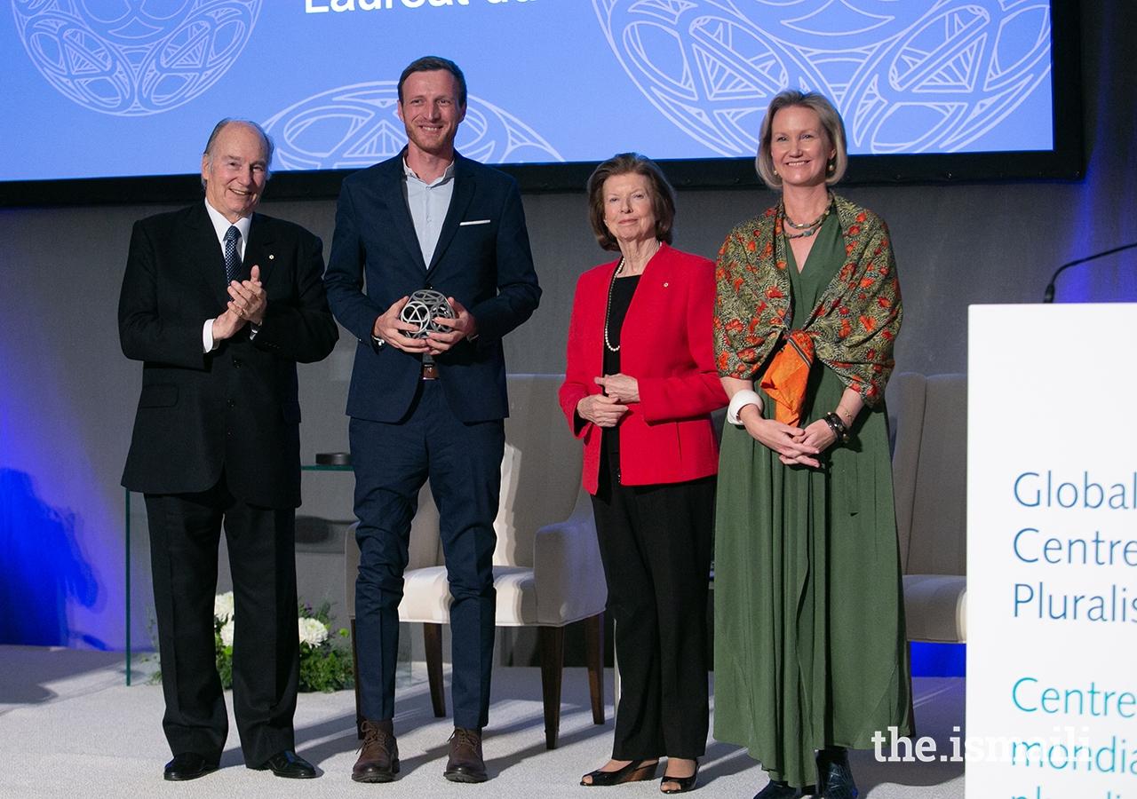 2019 Global Pluralism Award Winner with Aga Khan