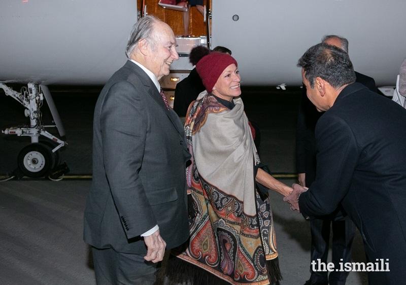 Aga Khan arrives in Ottawa for 2019 Global Pluralism Award