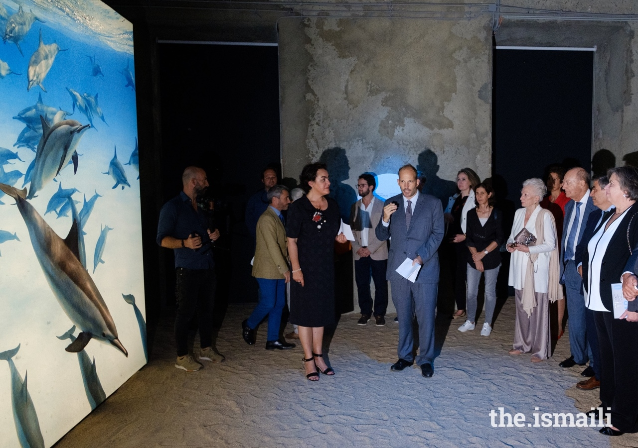 Prince Hussain, Marta Lorenço, Director of Portugal's National Museum of Natural History and Science, Prince Amyn Aga Khan, Living Sea, Barakah