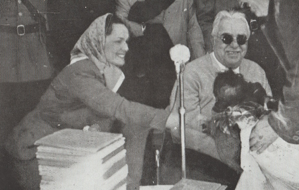 Aga Khan and Begum in Iran in 1951 Barakah
