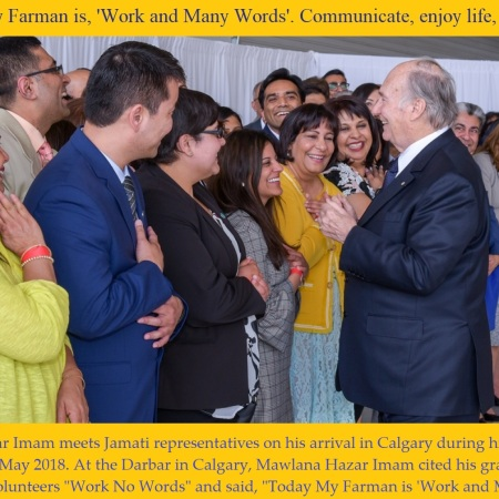Aga Khan in Calgary in May 2018 for his Diamond Jubilee