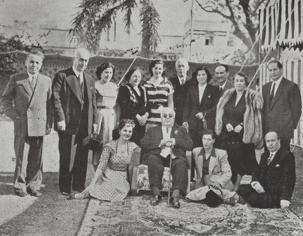 Aga Khan III with ambassadors to Iran, 1951 visit  Barakah