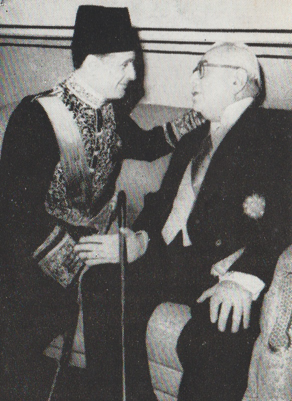 Aga Khan III with Egyptian Ambassador to Iran, Barakah