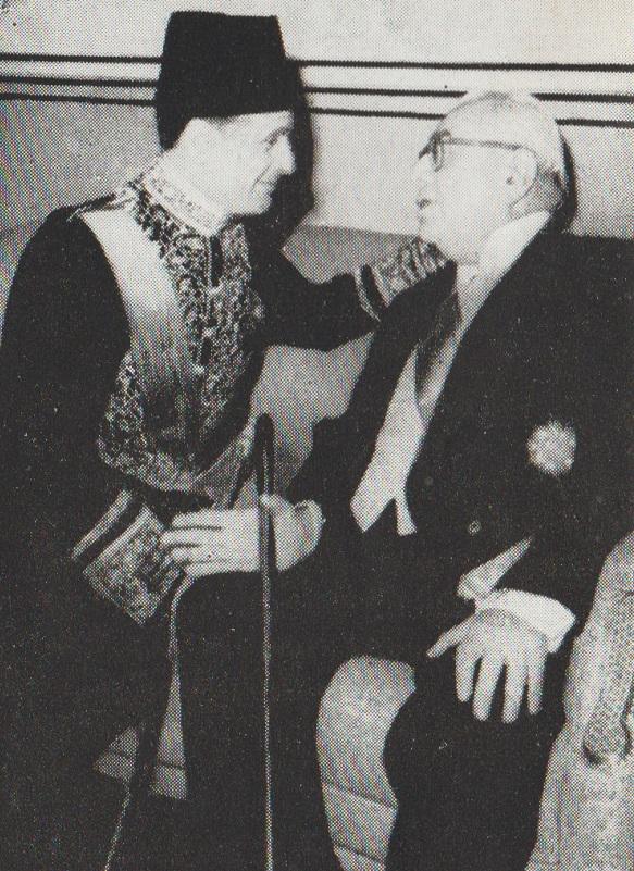 Aga Khan III with Egyptian Ambassador to Iran, Barakah
