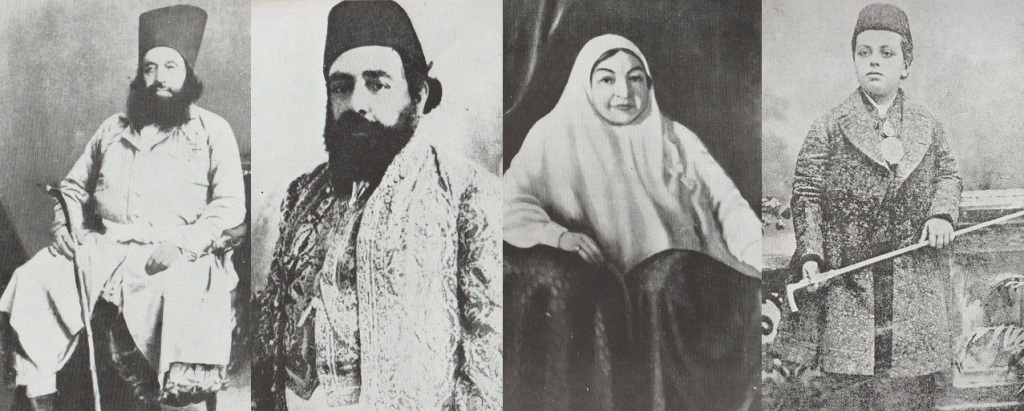 Aga Khans I, II and III and Lady Aly Shah