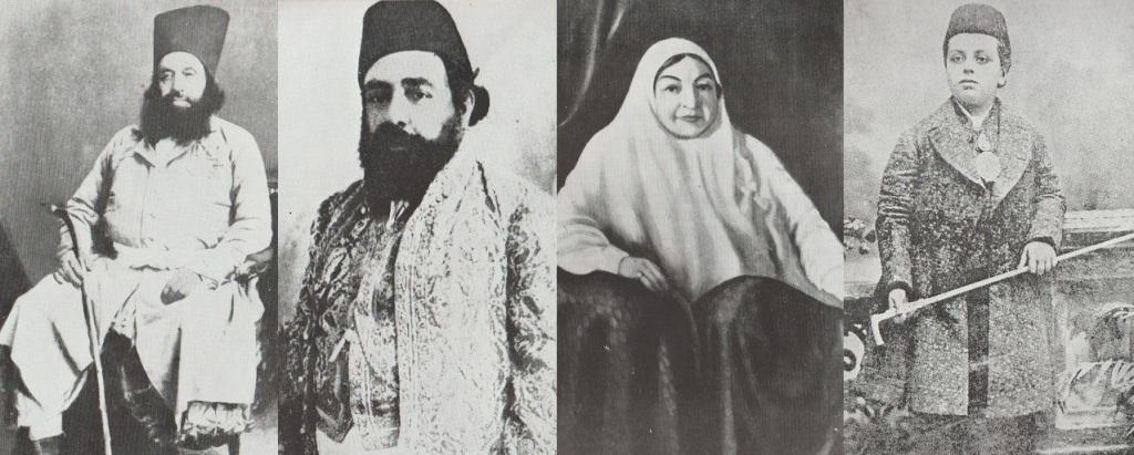 Aga Khans I, II and III and Lady Aly Shah