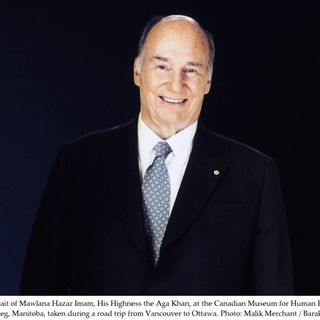 His Highness the Aga Khan depiction at the Canadian Museum for Human Rights