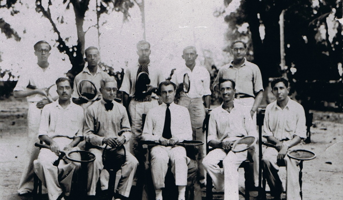 Prince Aly Khan at a tennis game in Mombasa, Barakah.