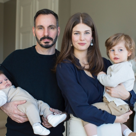 Prince Rahim Aga Khan with family
