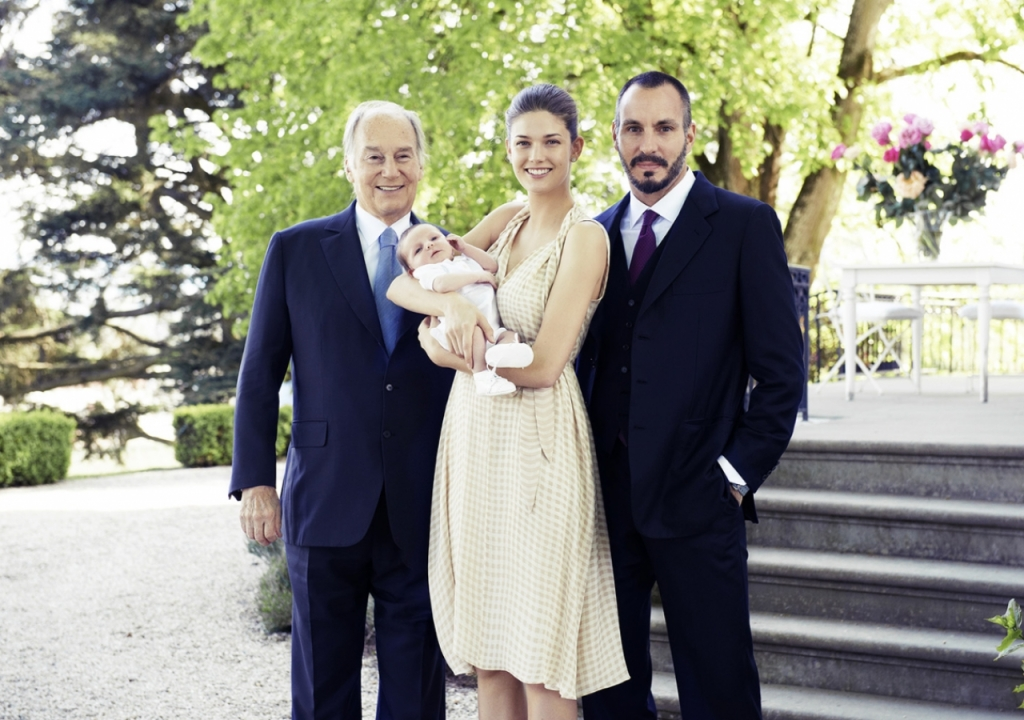 His Highness the Aga Khan, Princess Salwa, Prince Irfan Aga Khan and Prince Rahim.