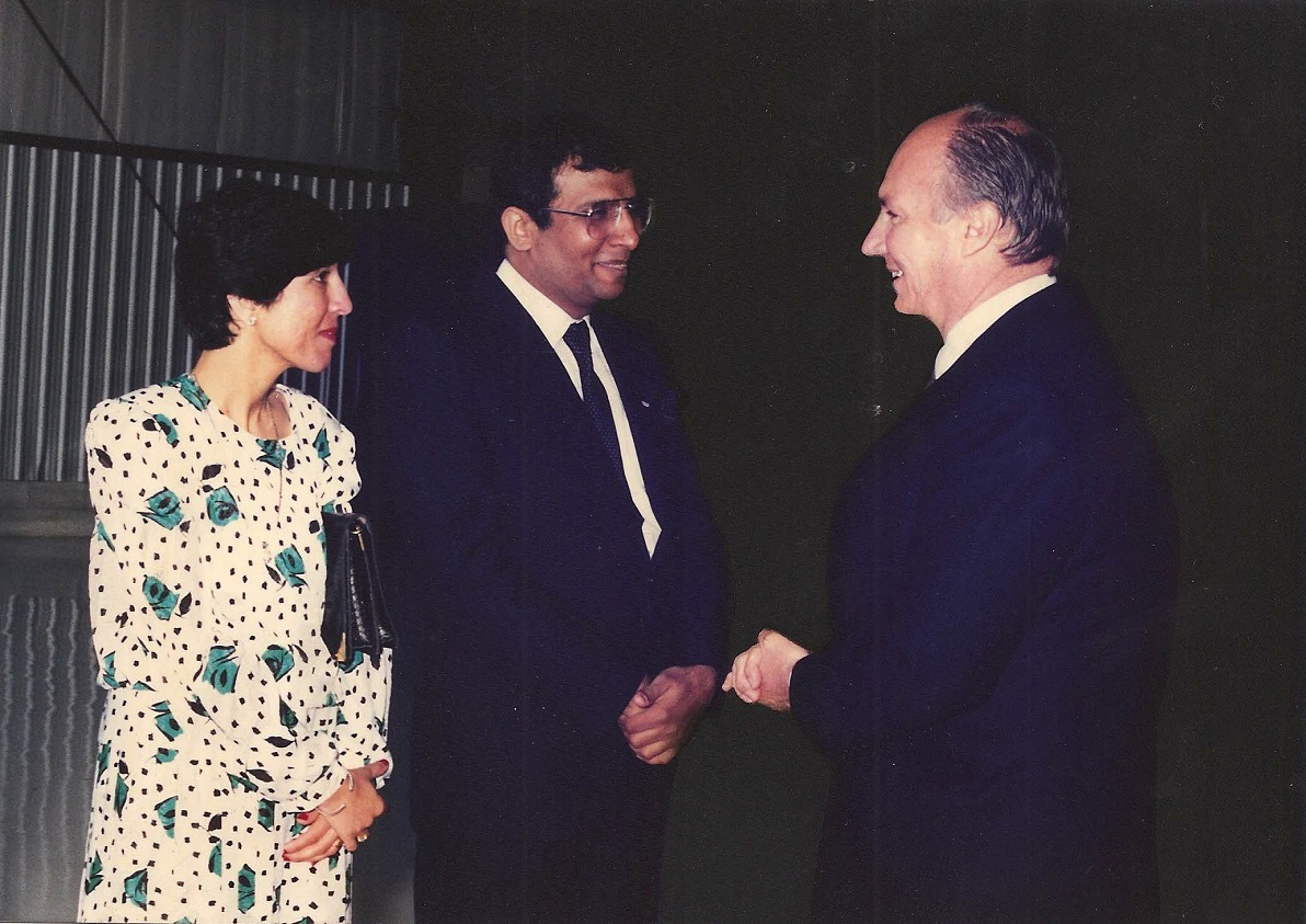 His Highness the Aga Khan, Mawlana Hazar Imam, and Nazir Nensi 1985 visit, Barakah