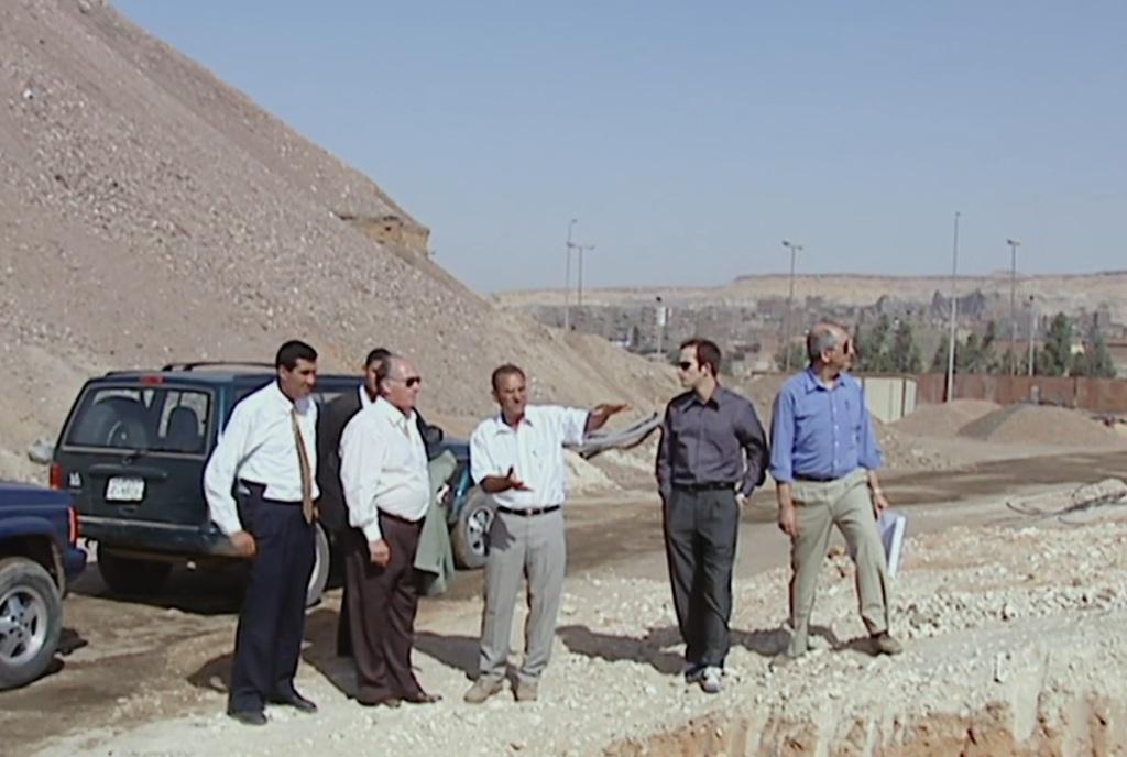 Aga Khan visiting Al-Azhar Park.