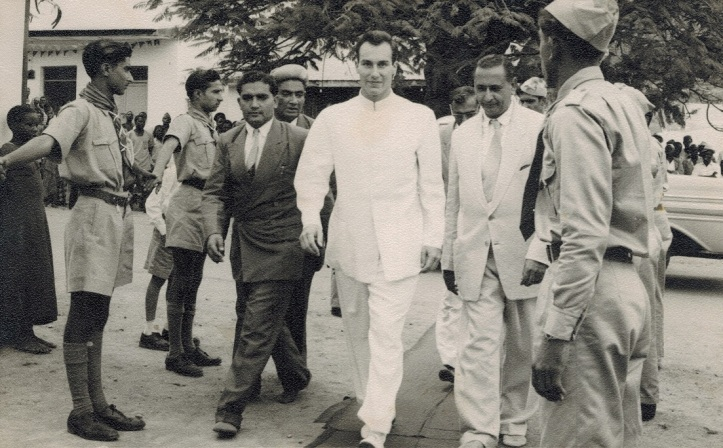 His Highness the Aga Khan, Mawlana Hazar Imam, Kigoma, Tanganyika 1957 Tanzania Simerg and Barakah.