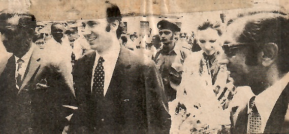 Aga Khan and Begum Aga Khan in Jinja, Uganda, Barakah and Simerg