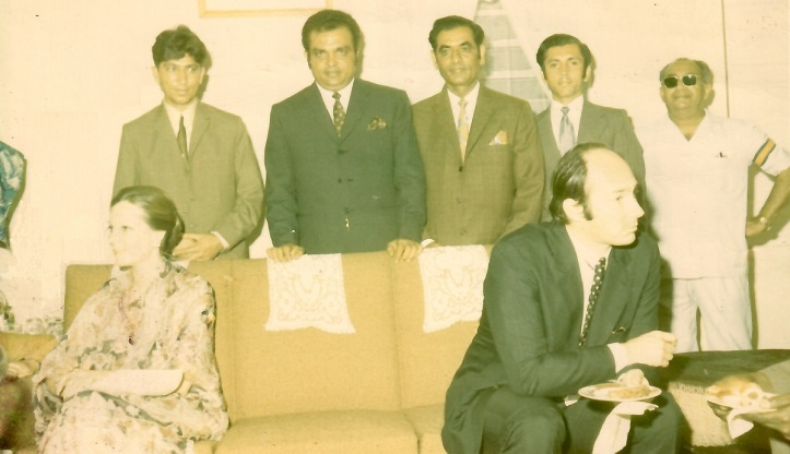 Aga Khan, Mawlana Hazar Imam, Begum Salimah at Aga Khan Council Chambers in Jinja, Uganda, 1972. Simerg and Barakah Photo