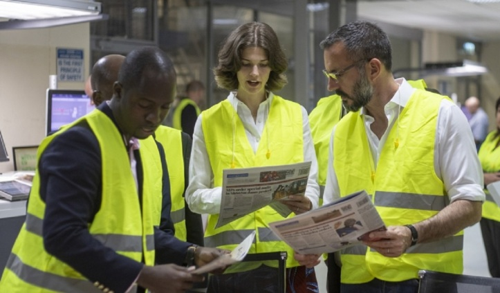 Prince Rahim and Princess Salwa visit Nation Media Group Printing Plant.