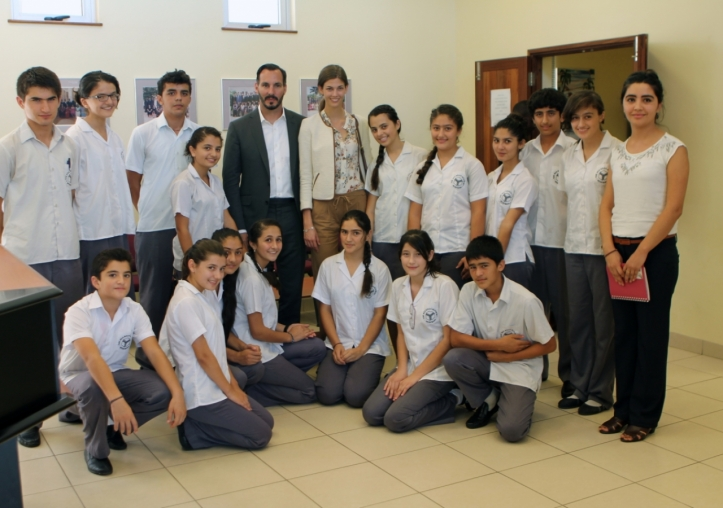 Prince Rahim and Princess Salwa Aga Khan with Central Asian Students registered at the Aga Khan Academy in Mombasa.
