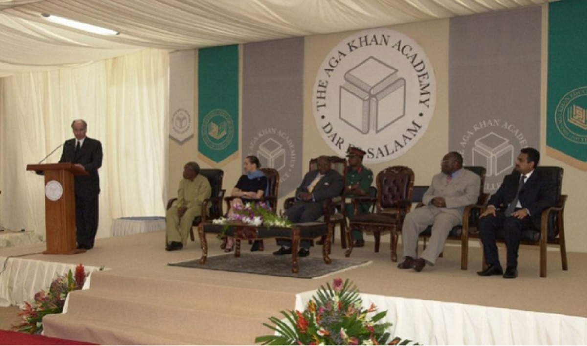 Aga Khan and President Mkapa at Aga Khan Academy Foundation Ceremony Barakah