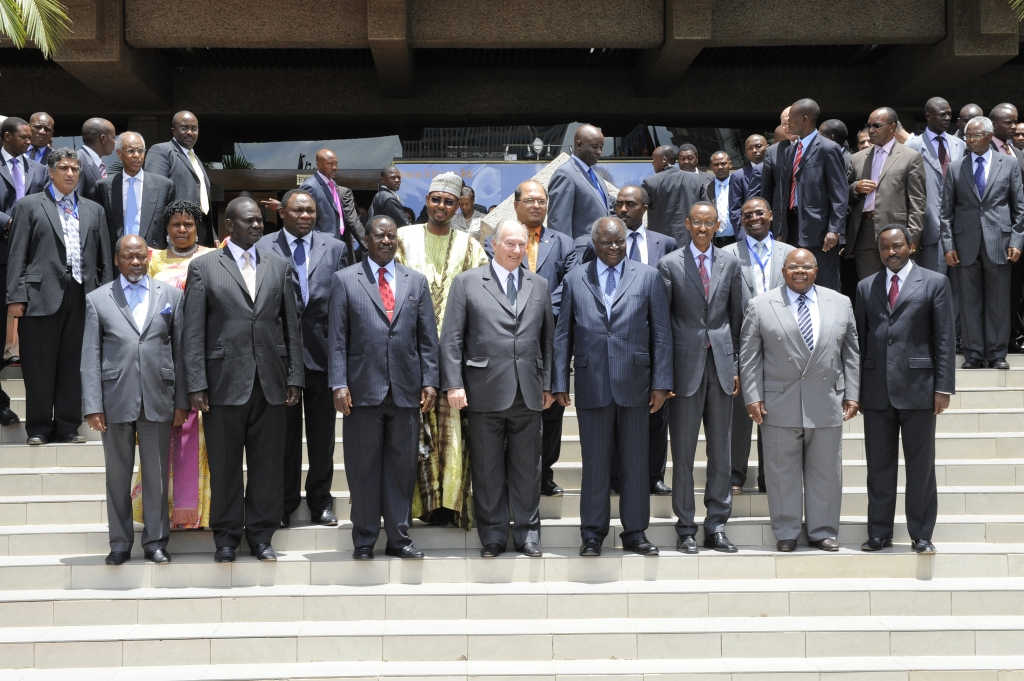 Aga Khan at Pan Africa Media Conference with East African Leaders including Mkapa of Tanzania. Barakah