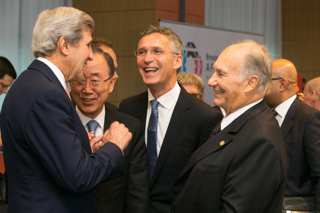 Aga Khan and John Kerry Afghanistan Conference Brussels Barakah