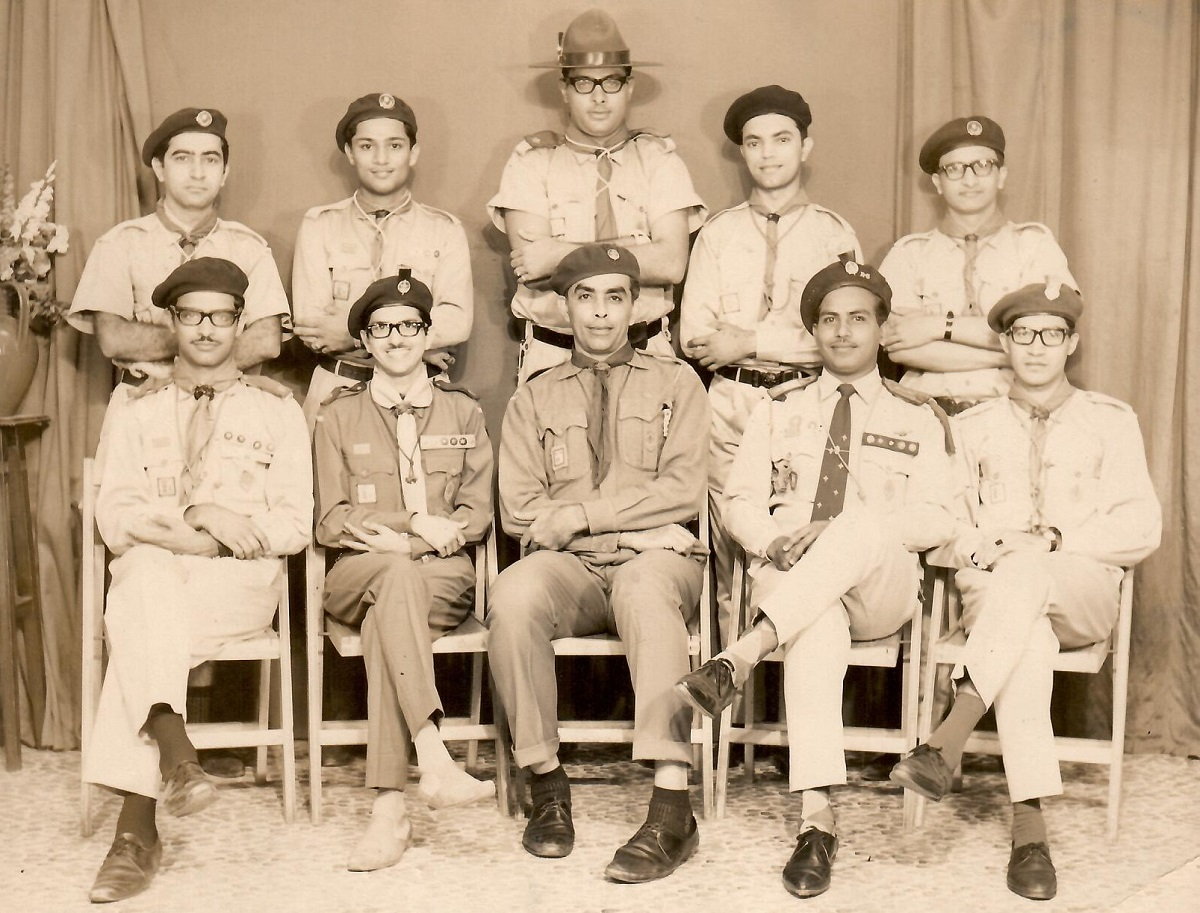 Nizar Datoo with Ismaili scout leaders