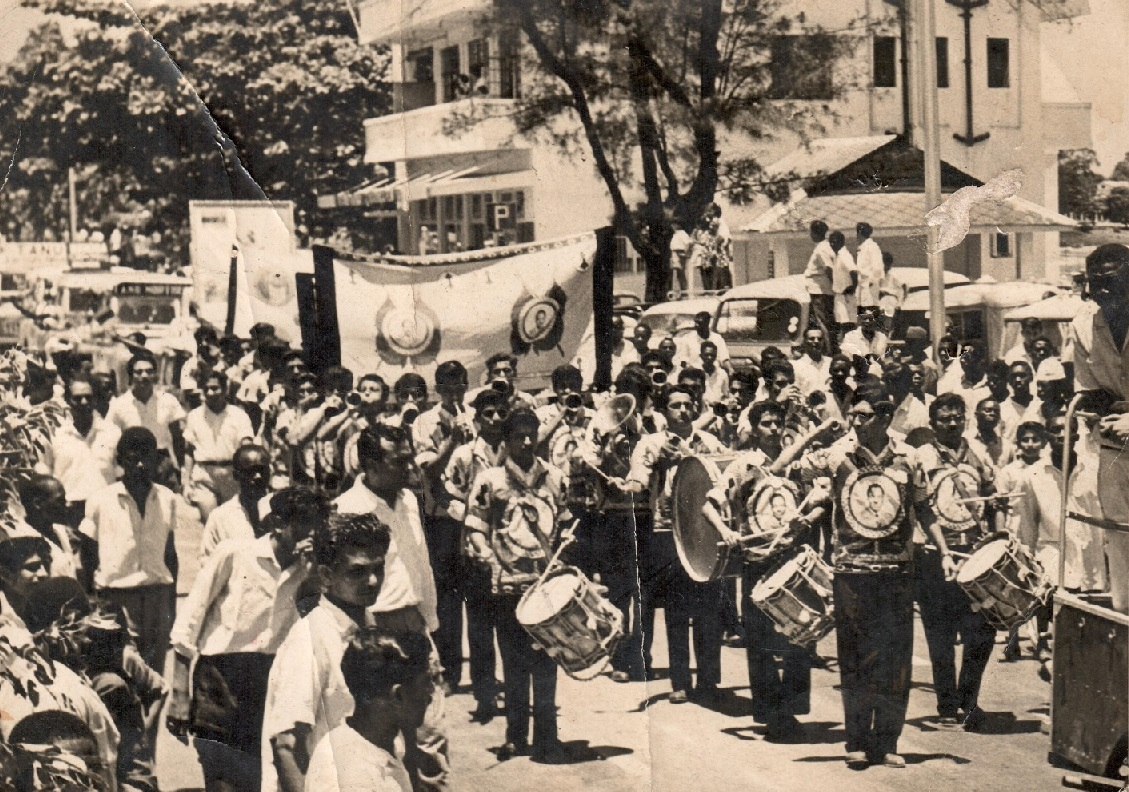 Ismaili scouts march at anganyika's independence day