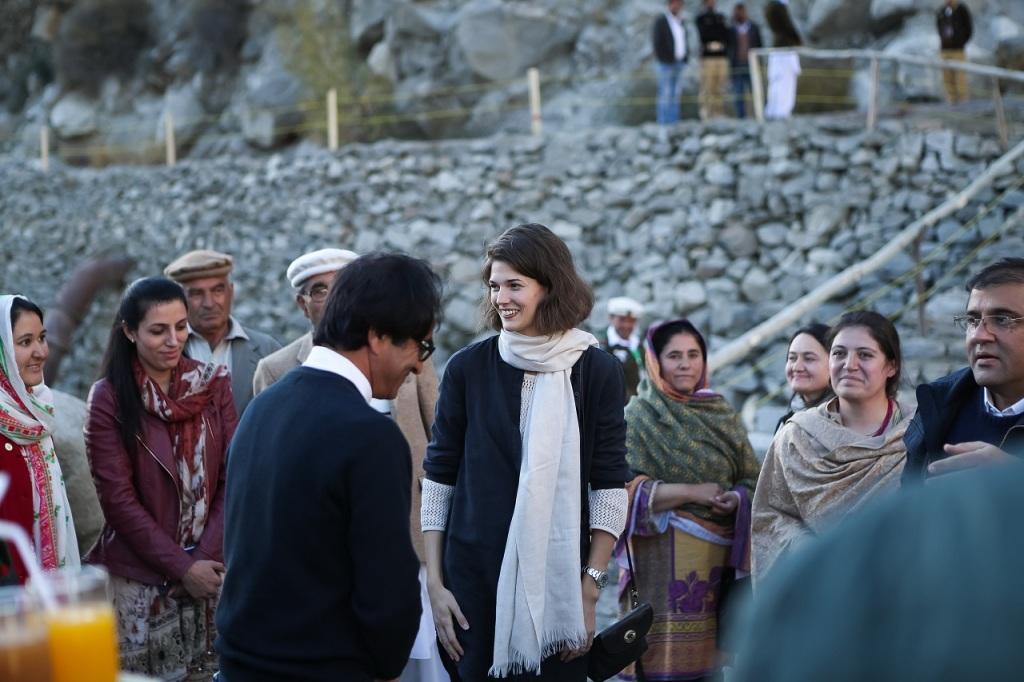 Prince Rahim Aga Khan and Princess Salwa in Pakistan; AKDN Project Barakah