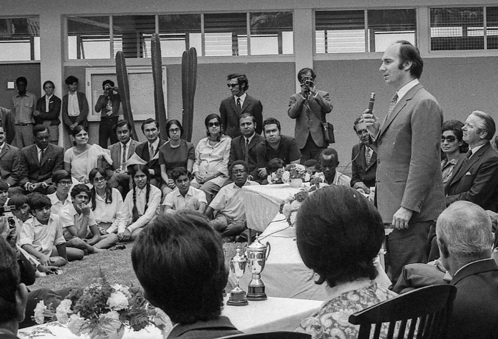 Aga Khan at Kololo School in Kampala Uganda Simerg Barakah Sultan Baloo