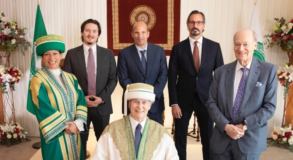 The Aga Khan with members of his family