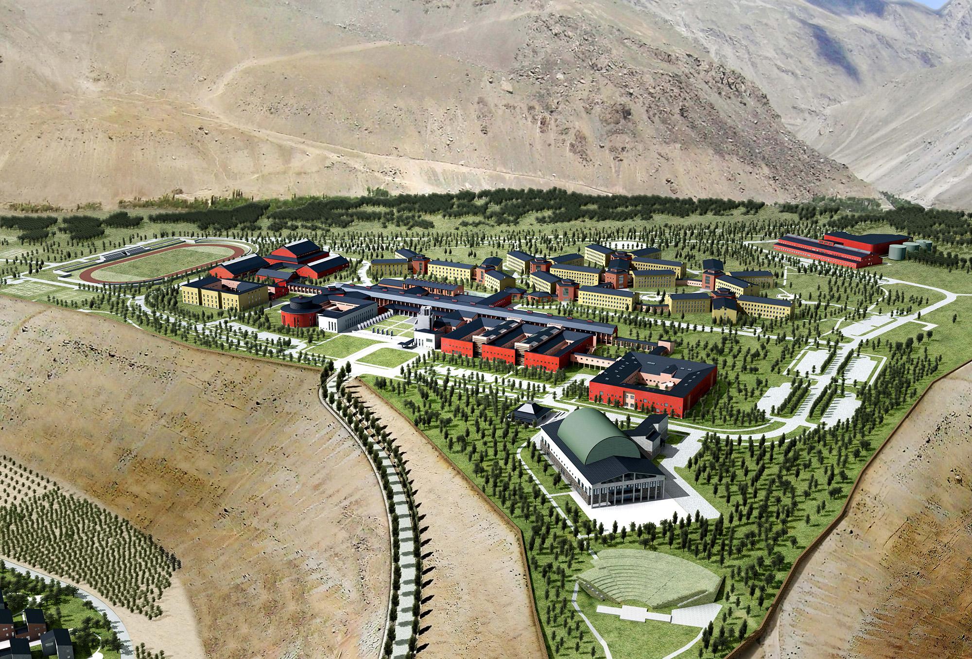 University of Central Asia Master Plan Khorog, reproduced in Barakah