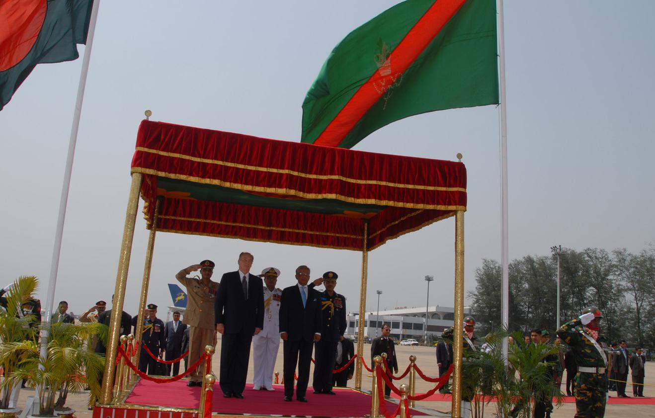 Flag of the Ismaili Imamat Aga Khan Bangladesh visit Barakah