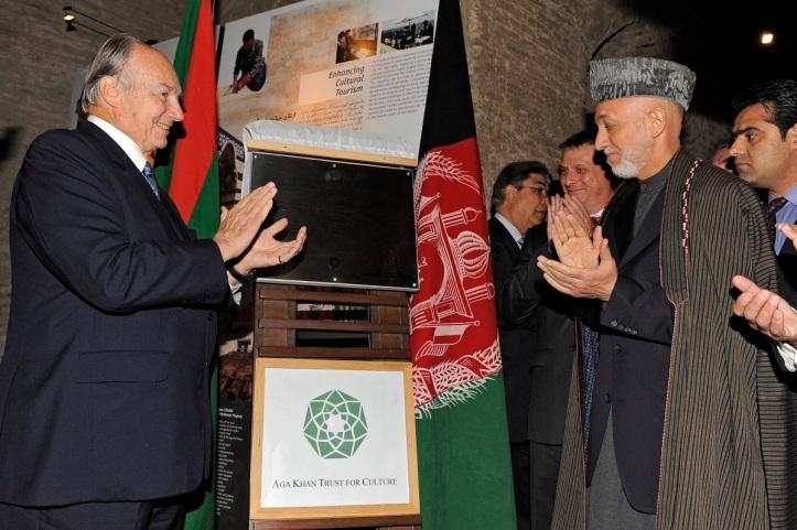 President Karzai and Aga Khan
