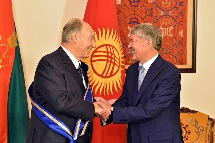 Aga Khan receives Order of Danaker Kyrgyz