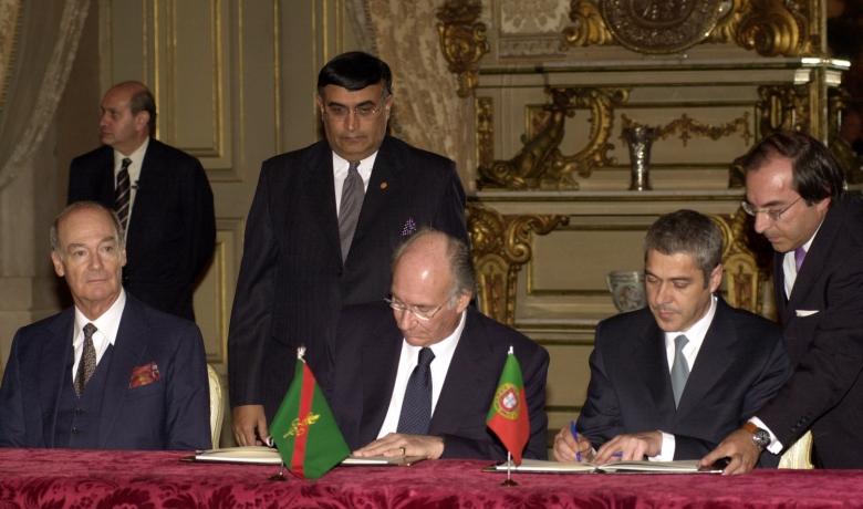 Flags of the Ismaili Imamat and Portugal, Protocol, Aga Khan
